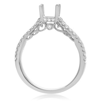 White Gold Split Shank Engagement Setting