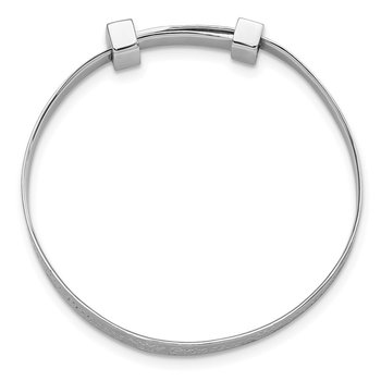 Sterling Silver Rhod-plt Childrens CZ PRINCESS Expandable Bangle
