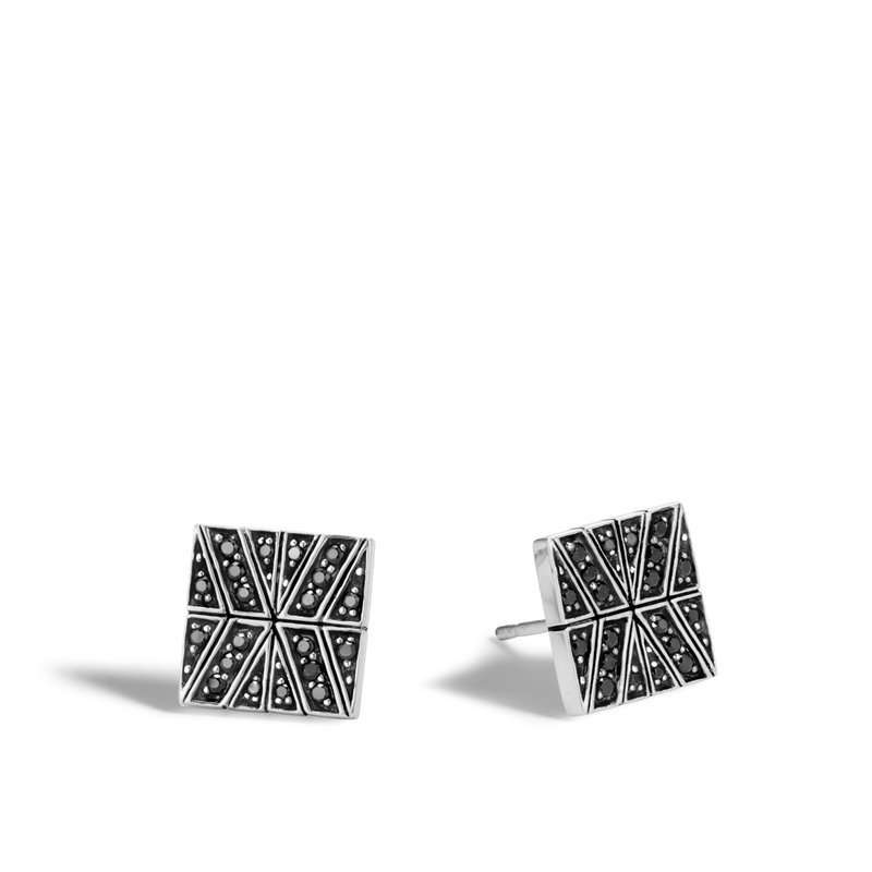 JOHN HARDY Modern Chain 10.5MM Stud Earring in Silver with Gemstone