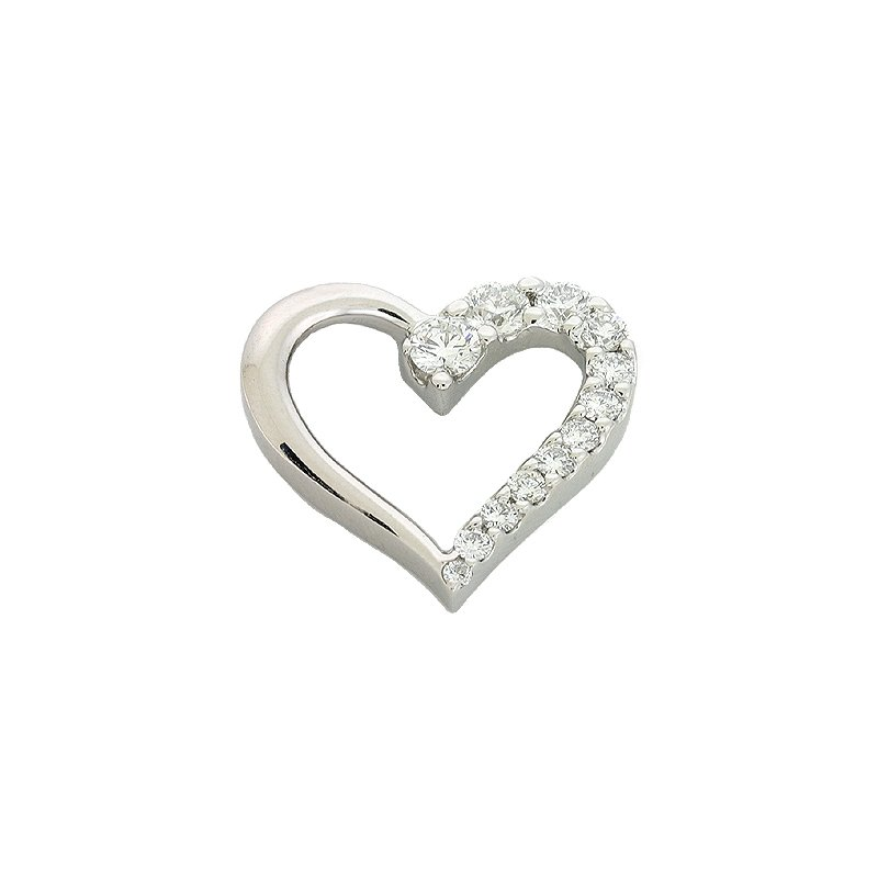 S. Kashi  & Sons White Gold Journey Heart