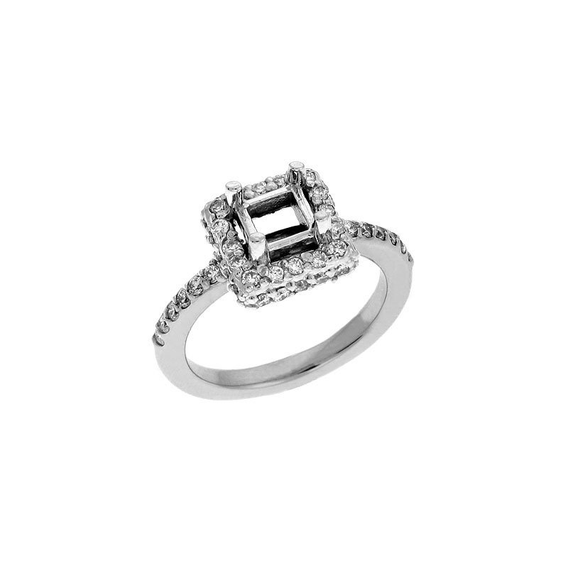 S. Kashi & Sons Bridal Bridal Ring White Gold