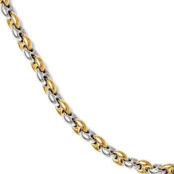 Leslie's Sterling Silver Gold-tone 18k Flash Plated Link Bracelet