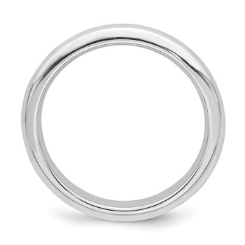 Sterling Silver Rhodium-plated 3mm Comfort Fit Band