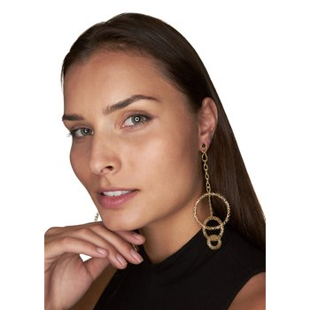Long Hoop Dangling Earrings