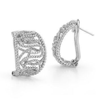Sterling Silver and Diamonds Earrings.