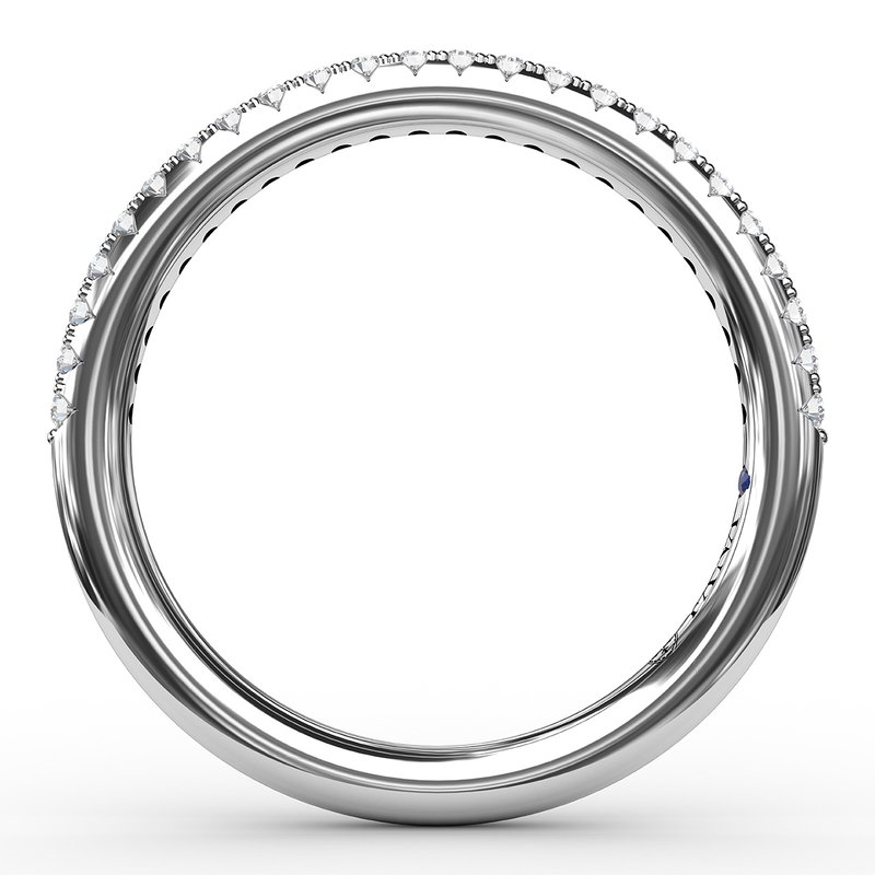 Fana Split Prong Diamond Anniversary Band