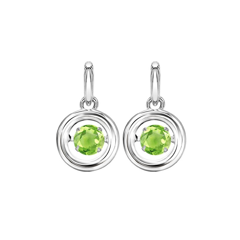 Rhythm of Love Silver Peridot Rhythm Of Love Earrings