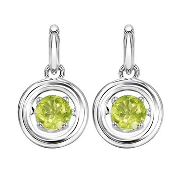 Silver Peridot Rhythm Of Love Earrings