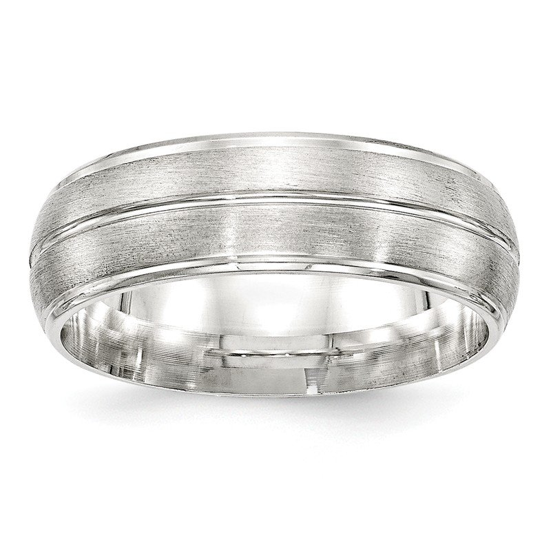 Lester Martin Online Collection SS 7mm Brushed Fancy Band Size 10