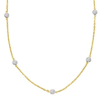 Yellow Gold Diamond By The Yard Necklace