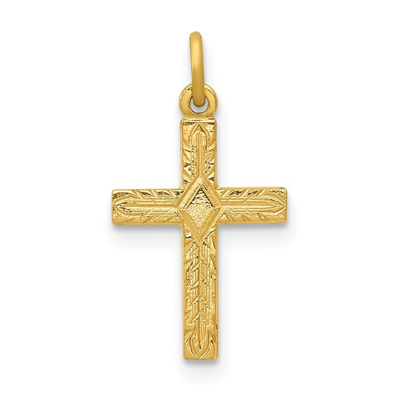 Quality Gold 14k Small Cross Charm
