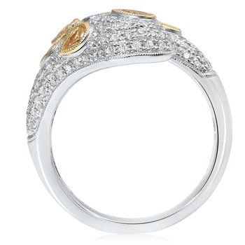 Two Tone Overlapping Diamond Ring