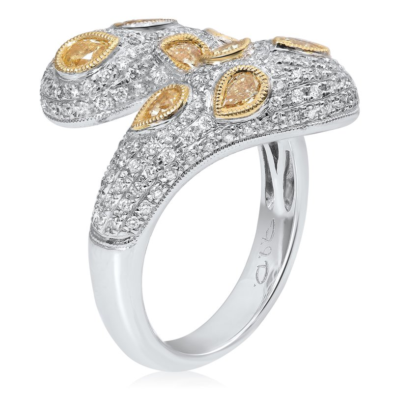 Roman & Jules Two Tone Overlapping Diamond Ring