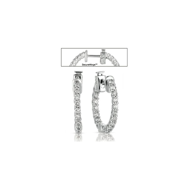 S. Kashi  & Sons 0.75 inch Securehinge Hoop Earring