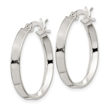 Sterling Silver 2.75x20mm Hoop Earrings