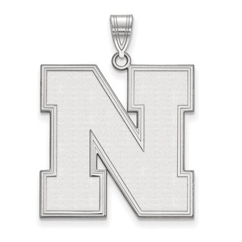 Sterling Silver University of Nebraska NCAA Pendant