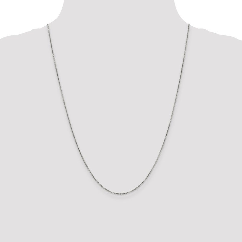 JC Sipe Essentials Leslie's 14K White Gold 1.25mm D/C Rolo Chain