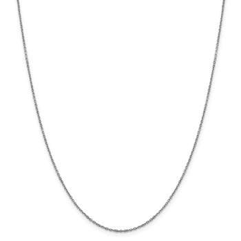 Leslie's 14K White Gold 1.25 mm D/C Rolo Chain