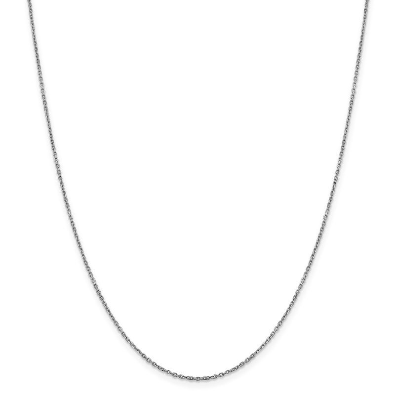 Leslie's Leslie's 14K White Gold 1.25 mm D/C Rolo Chain