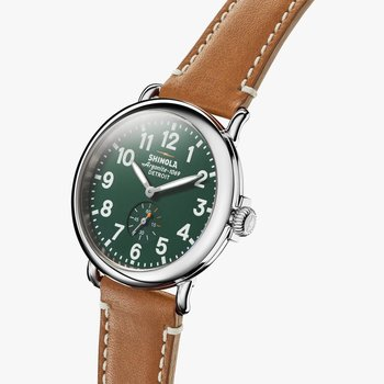 Watch: Runwell 41mm, Brown Leather Strap