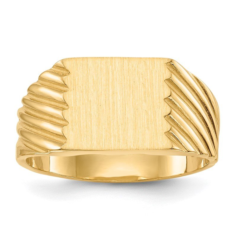 Quality Gold 14k 9.0x9.0mm Closed Back Signet Ring