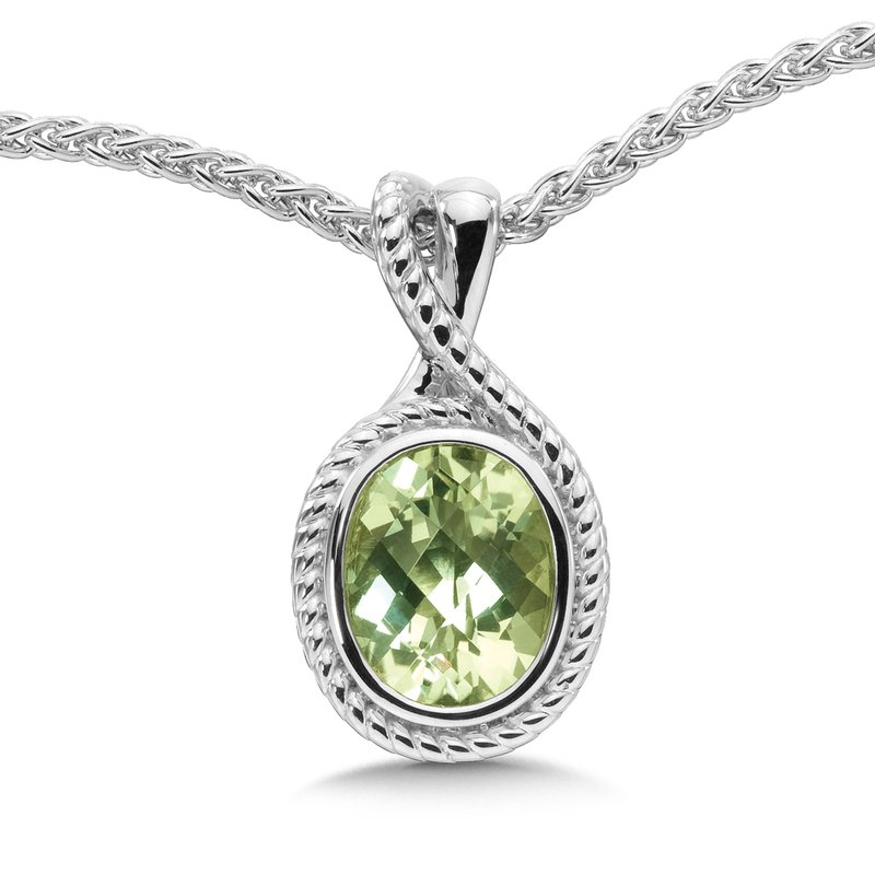 Colore Sg Sterling Silver & Green Amethyst Pendant
