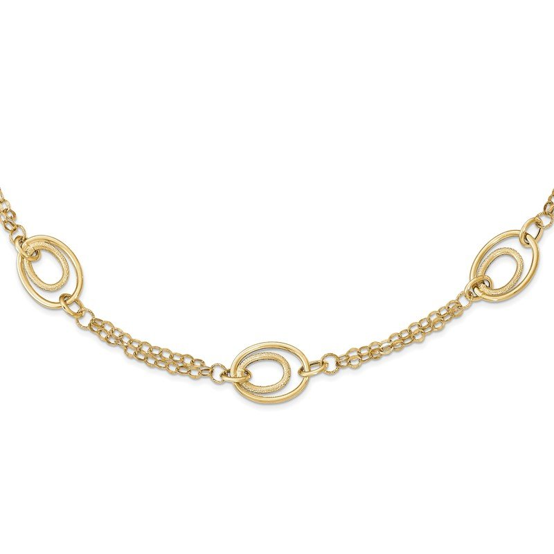 Quality Gold 14k Gold Polished Textured Fancy Necklace