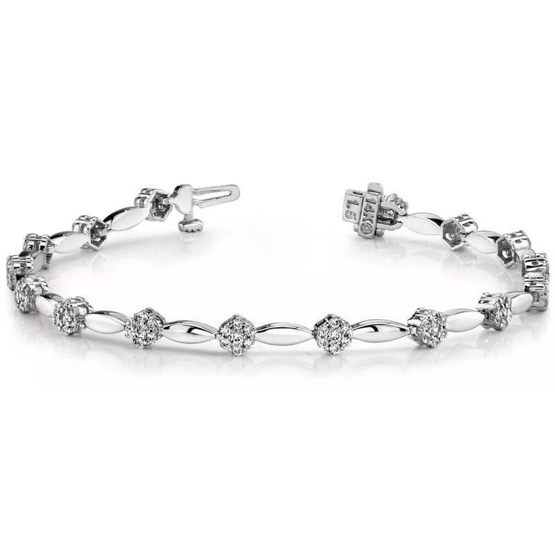 S. Kashi  & Sons White Gold Designer Diamond Bracelet