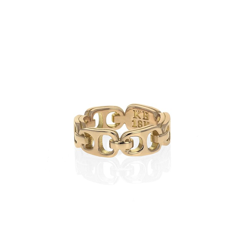 King Baby Small 18K Pop Top Infinity Band