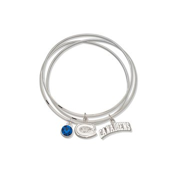 Brass/White Montreal Canadiens NHL Bracelet