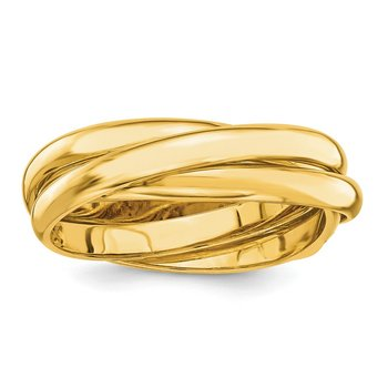 14k Polished Rolling Ring