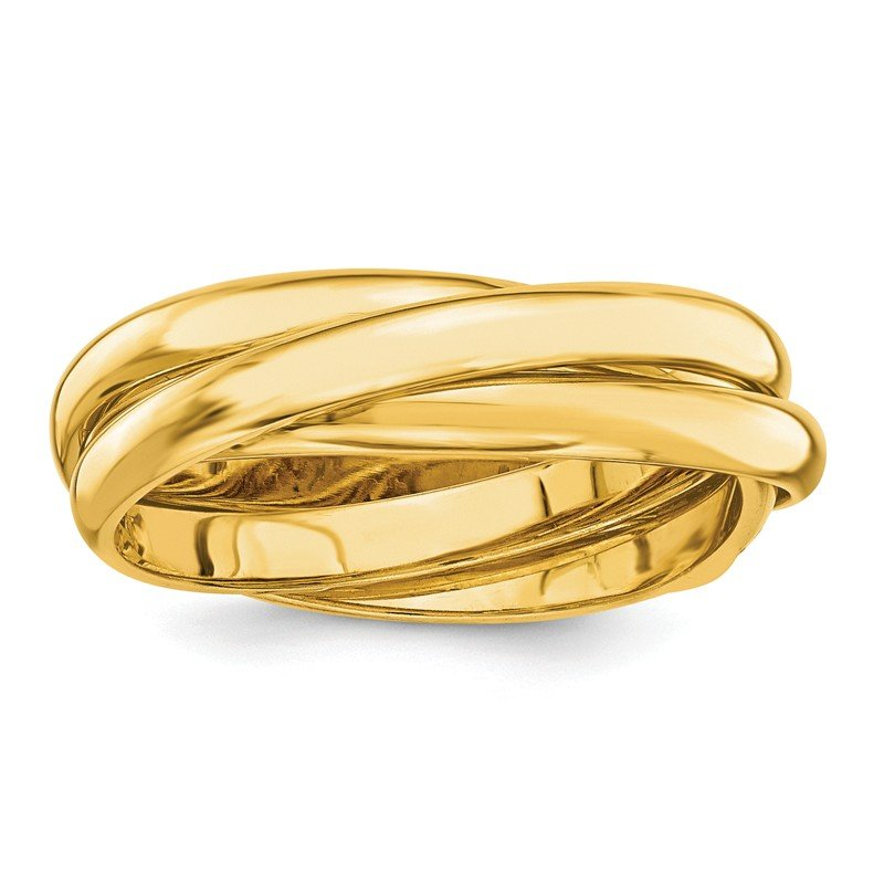 Quality Gold 14k Polished Rolling Ring