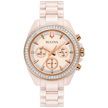 Blush Ceramic and Crystal Chronograph