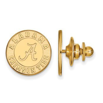 Gold-Plated Sterling Silver University of Alabama NCAA Lapel Pin