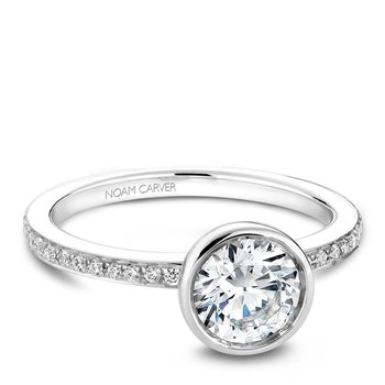 Noam Carver Modern Engagement Ring B095-02A