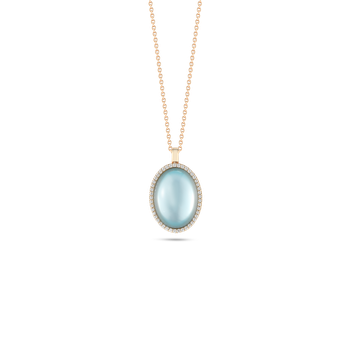 Pendant with Diamonds, Topaz and Mother of Pearl