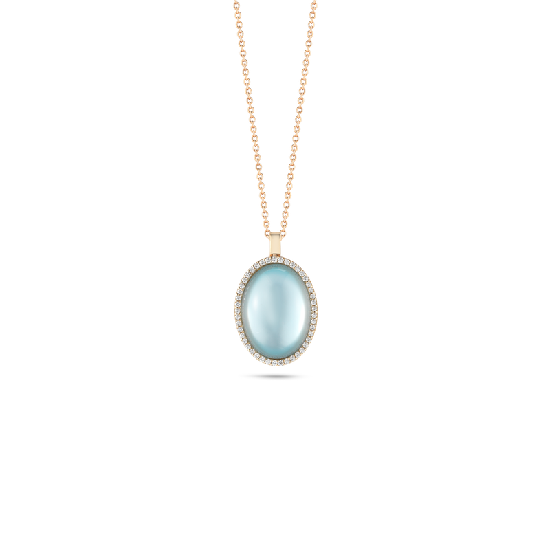 Roberto Coin Pendant with Diamonds, Topaz and Mother of Pearl