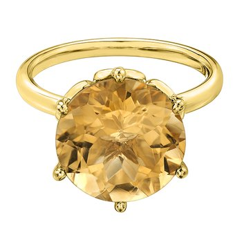 Citrine Ladies Ring