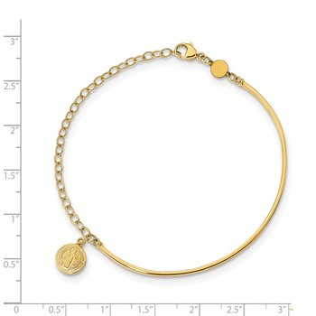 14K Polished Religious Bangle