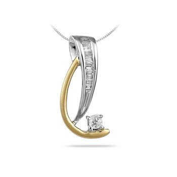 14K TTG Diamond All Purpose Pendant