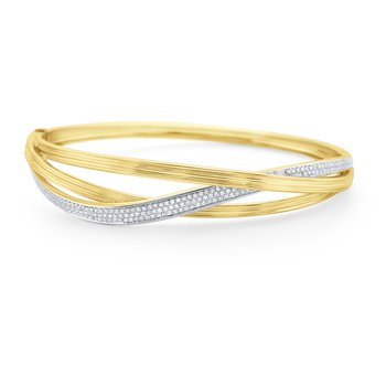 14 Kt. Gold & Diamond Intertwining Bracelet