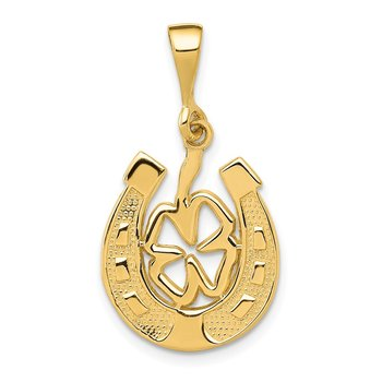 14k Good Luck Clover Pendant