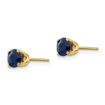 14k 5mm Sapphire Earrings - September