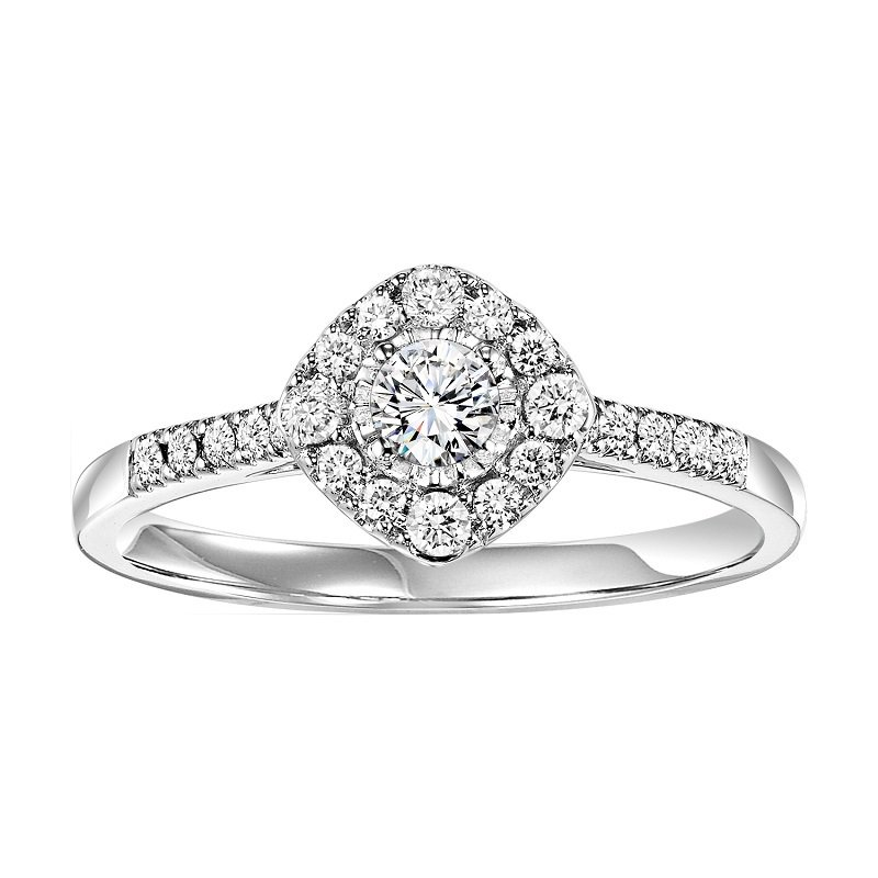 Bridal Bells 14K Diamond Engagement Ring 3/8 ctw Complete