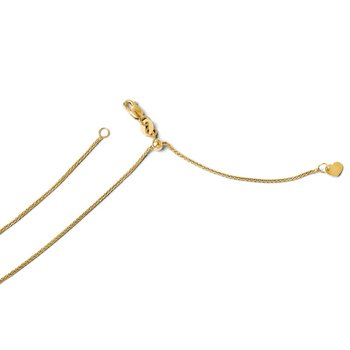 Leslie's 14K 1 mm Adjustable Wheat Chain
