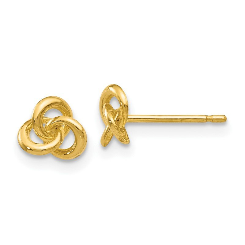 Quality Gold 14k Polished Trinity Knot Post Earrings
