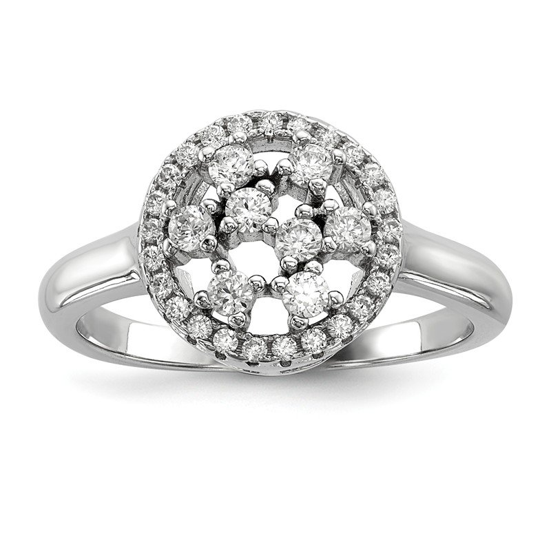J.F. Kruse Signature Collection Sterling Silver & CZ Brilliant Embers Ring