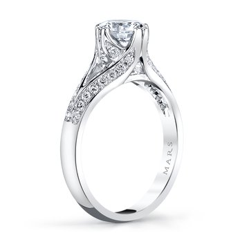 MARS 28236 Diamond Engagement Ring 0.32 Ctw.