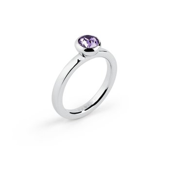 316L stainless steel and tanzanite Swarovski® Elements crystal.