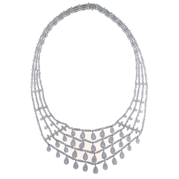 18KT GOLD DIAMOND BIB NECKLACE